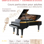 Affiche Cours de Piano et de Chant à Coutances et Saint-Lô - Sébastien Delisle
