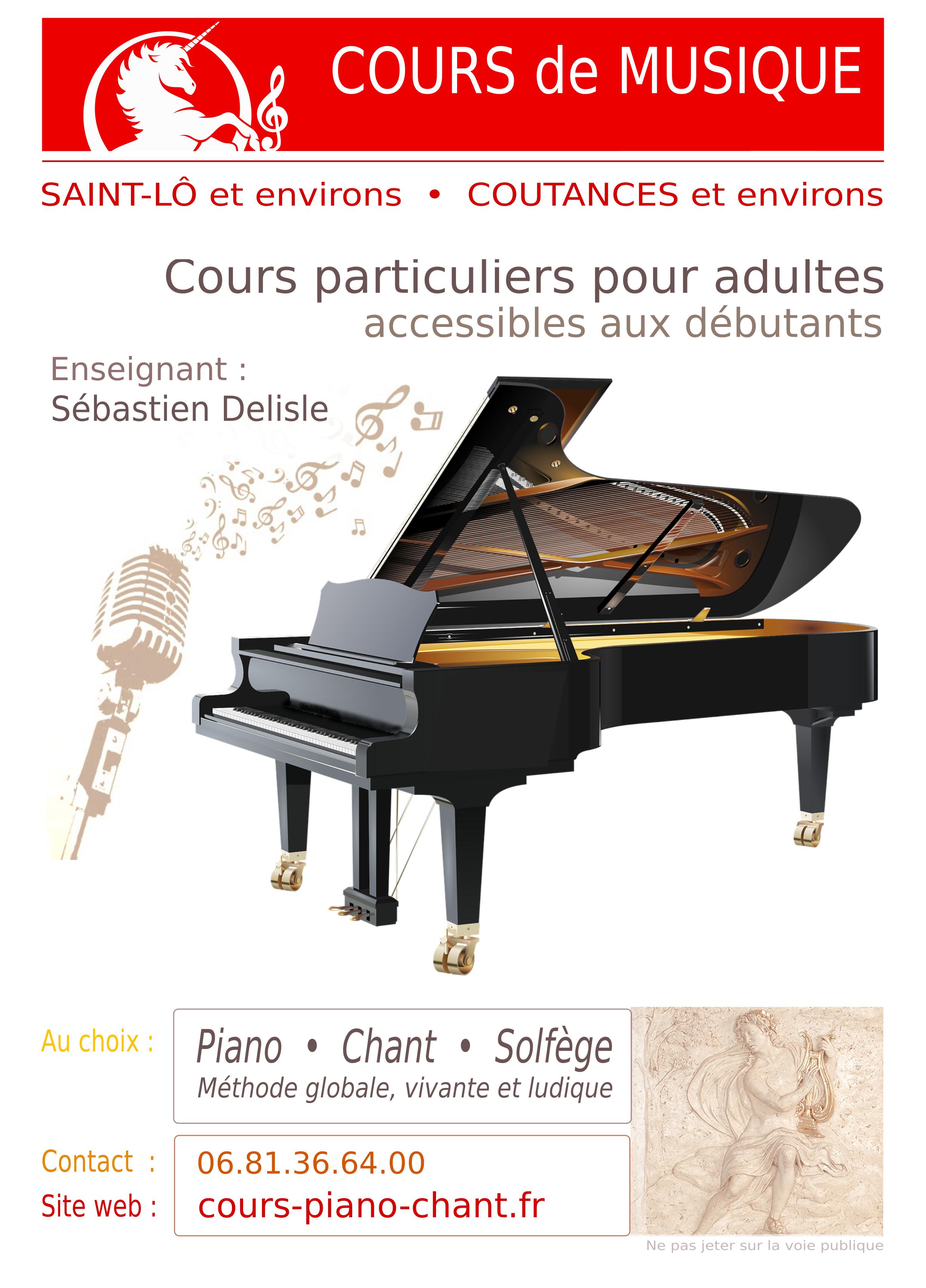 S bastien delisle cours de piano chant coutances et - Cours de piano montpellier ...